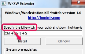WKSW Extender- specify the kill switch