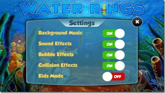 Water Rings - settings
