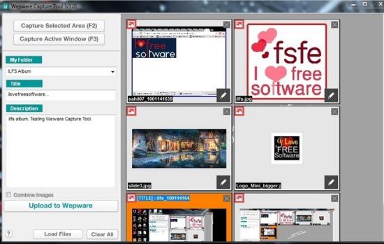 Wepware Capture Tool- interface