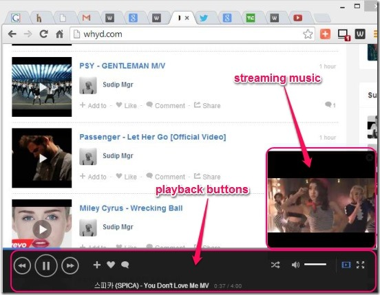 Whyd - free music streaming website