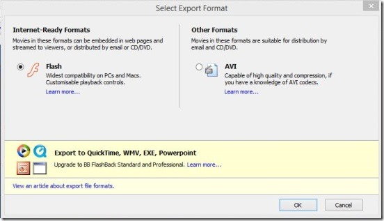 Windows 8 tutorial - export recording
