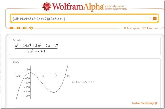 WolframAlpha-solve math problems-home page