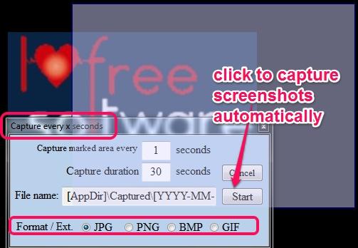 auto capture screenshots