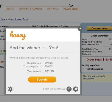 chrome coupons honey