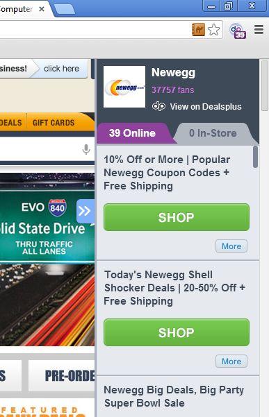chrome coupons hotdeals