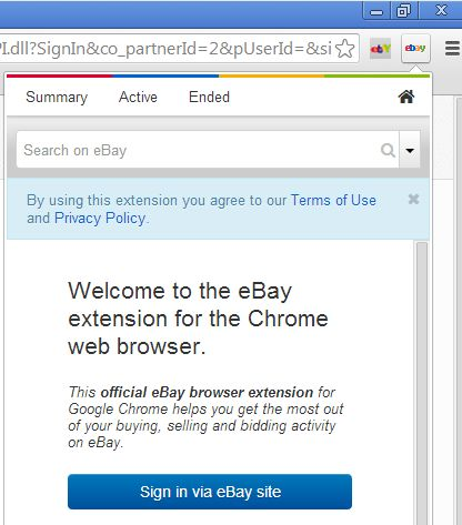 chrome ebay extension official extension