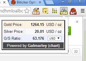 chrome gold price extension gold simple