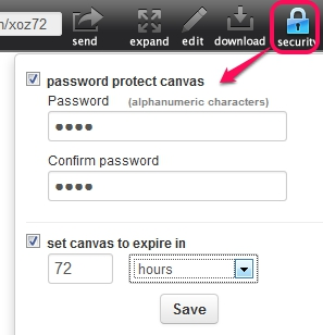 dropcanvas- password protect canvas