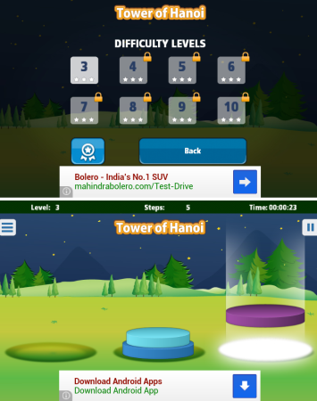Towers of Hanoi for Android