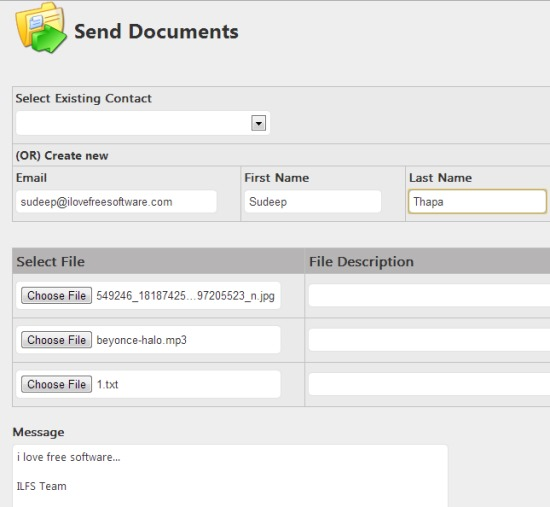 iSecureDocument- send documents