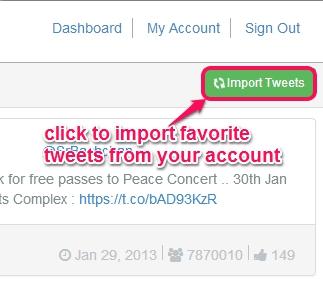 import favorite tweets