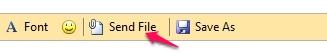 Free LAN Chat application for Windows - Mossawir Lan Messenger - Sending a file