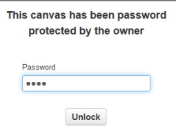 password protected canvas