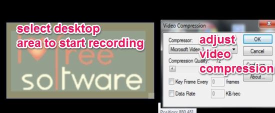 record desktop screen in avi format