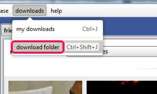 select download folder