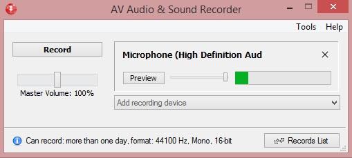 AV Audio & Sound Recorder - recorder