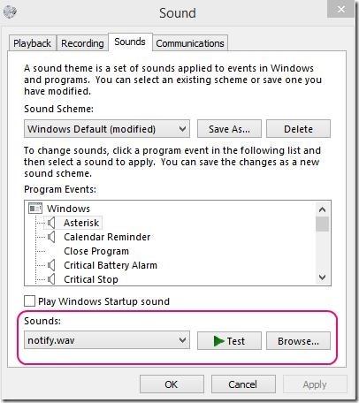 BeepCheck - Sound Setting window