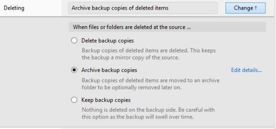 Bvckup 2 (beta) - choosing what to do with destination file and folder when source files, folders are deleted