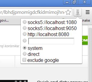 Chrome proxy extensions quick and dirty proxy flipper
