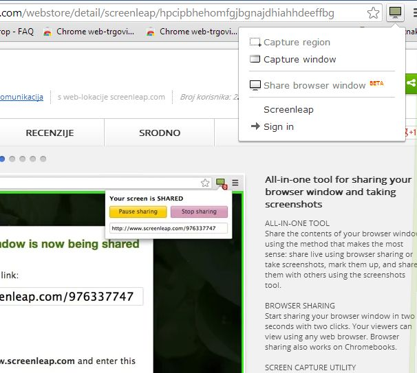 Chrome screen sharing extensions screenleap