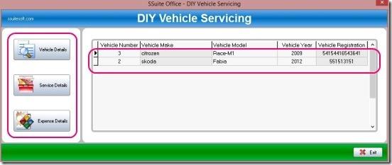 DIY Vehicle - main window
