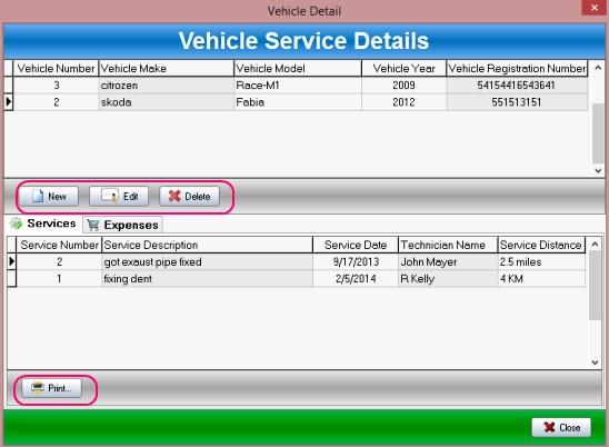 DIY Vehicle - vehicle service detail