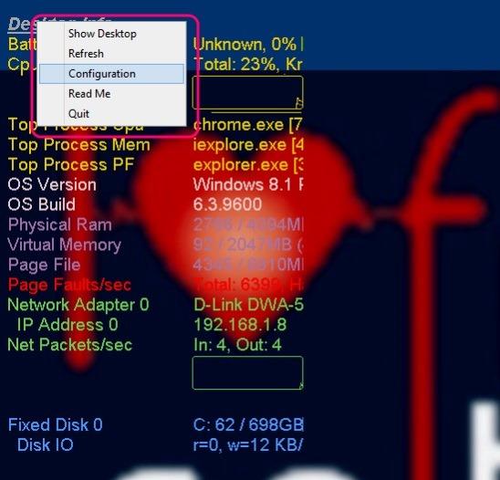 Desktop Info - icon