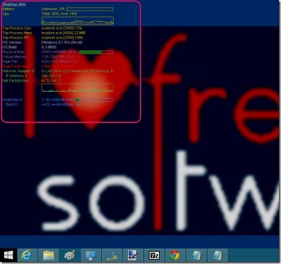 Desktop Info - system real time information
