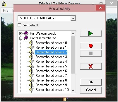Digital Talking Parrot - vocabulary