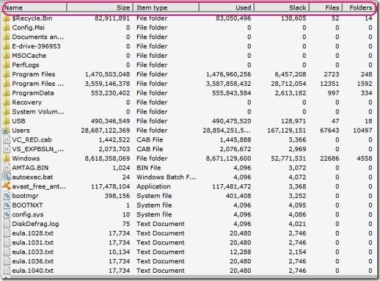 Disk Usage Analyzer - report