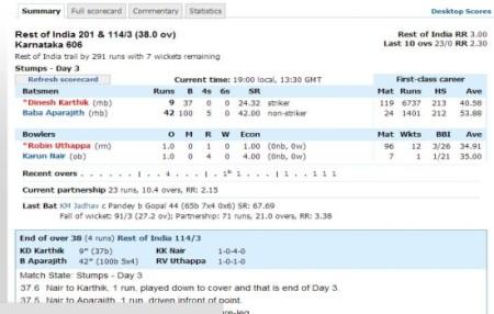 ESPN cricinfo-check cricket scores live-scoreboard