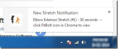 FitBolt-Desktop notification