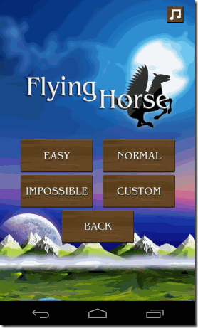 Flying Horse Android Difficulty Level