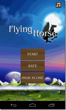 Flying Horse Android Start Screen