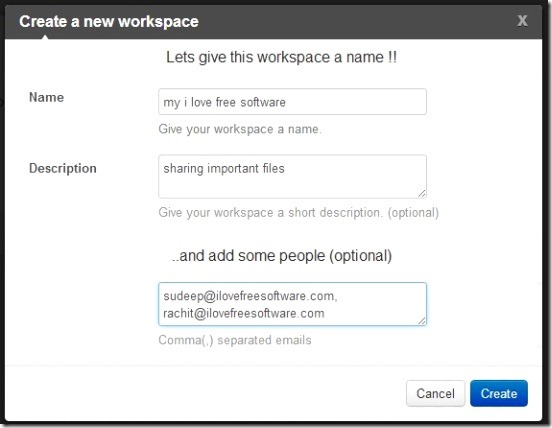 Framebench - creating new workspace