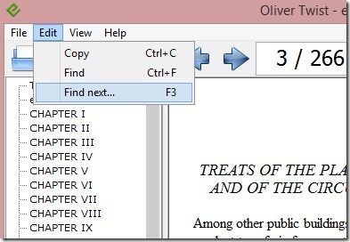 Free ePub Reader - Edit menu