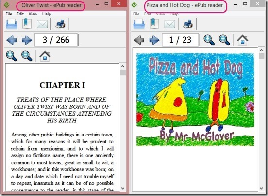 Free ePub Reader - opening two instances