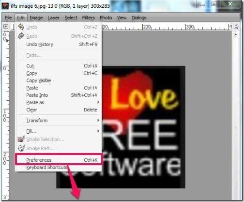 GimPhoto- edit, keyboard shortcuts