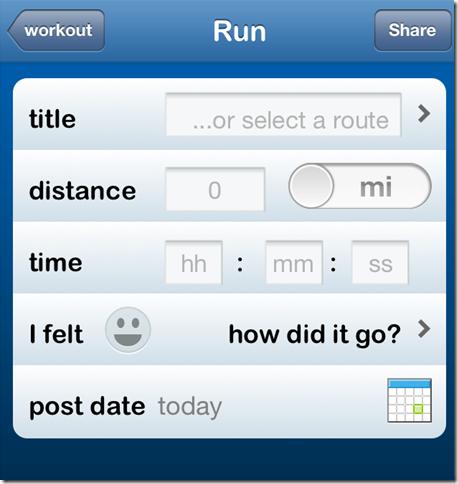 Fill Workout Details