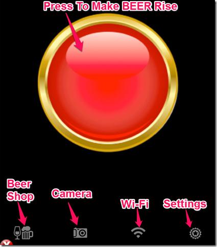 iBeer Fun App Home Screen