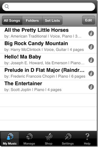 Musicnotes iPhone Client App To View, Manage Your Sheet Music