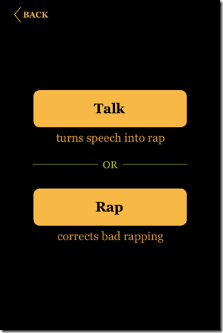 Choose To Record Or Rap Correct