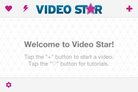 Video Star Home Screen