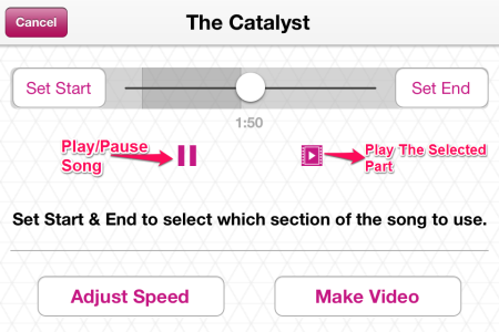 Select The Part Of The Song