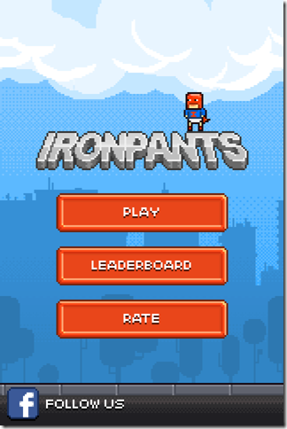 Ironpants Home Screen