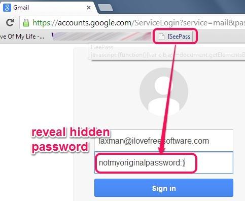 ISeePass- password revealer