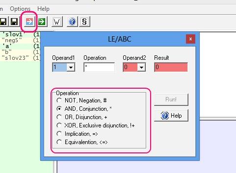 Logic Expression - Run ABC
