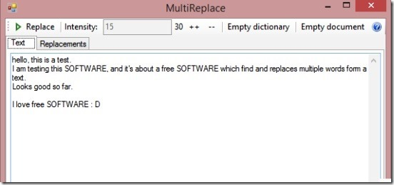 MultiReplace - formatted text