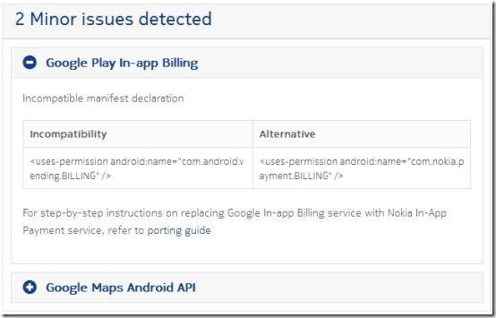 Nokia X Analyser Conflicting Code