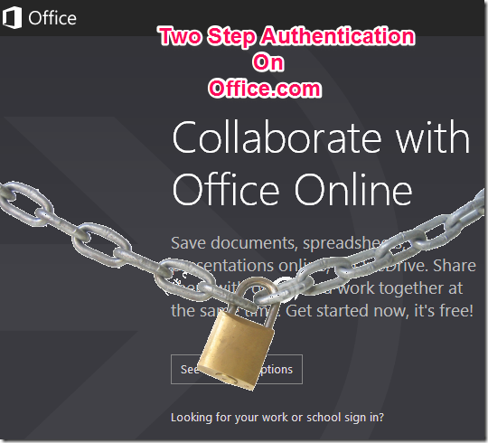 Office.com Two Step Authentication
